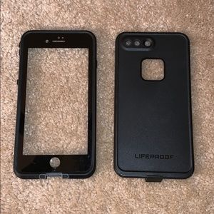 black iPhone 7 and 8 plus Lifeproof case